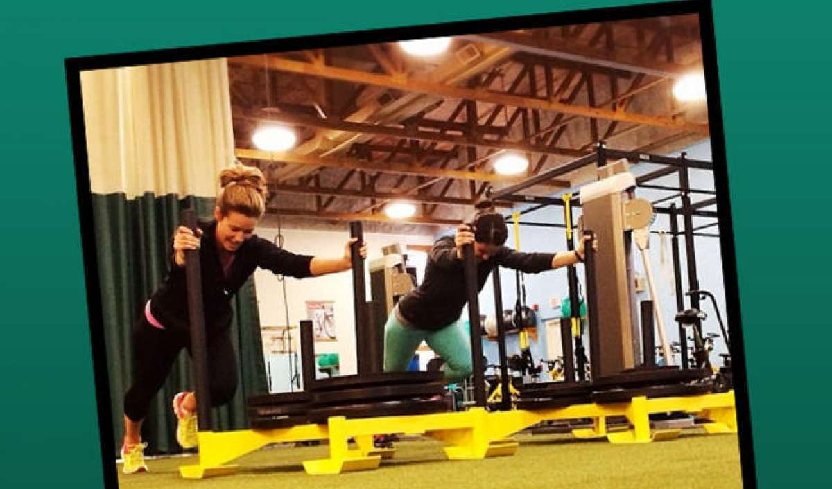 Build the physique of an athlete with the sled push