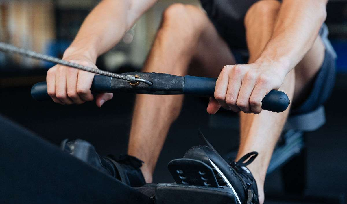 different exercises using a rower