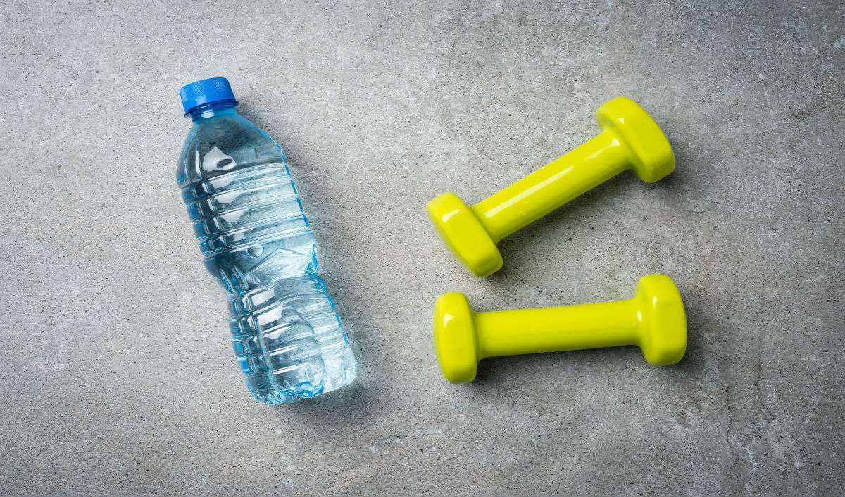 Water Bottle Dumbbell