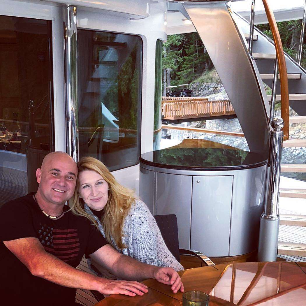 Andre Agassi and Steffi Graf