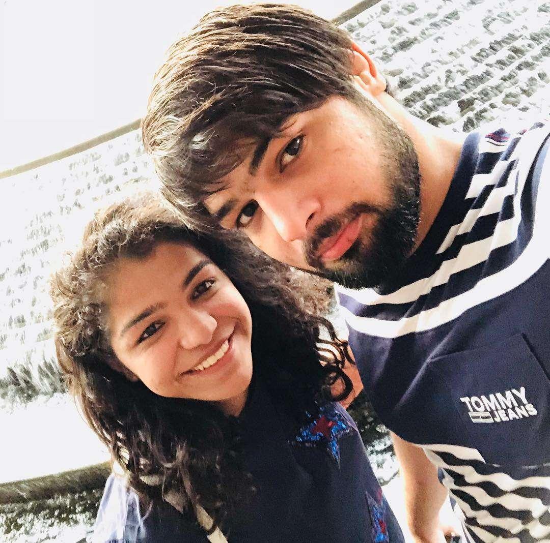 Satyawart Kadian and Sakshi Malik